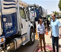 محافظ أسوان يتفقد مشروع توسعات محطة مياه جبل شيشة