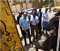 محافظ أسوان يتفقد أعمال المرحلة الأولى من مشروع خطوط مياه الشرب