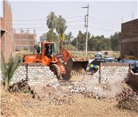 حملة لإزالة التعديات على الأراضي الزراعية في الأقصر