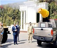 فيديو| الرئيس يتفقد نماذج المعدات التي طورتها القوات المسلحة لمكافحة انتشار «كورونا»