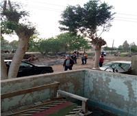 مأساة| مسئولو السنطة يتخلصون من مياه الصرف الصحي بالترع