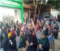 انتظام صرف المعاشات وسط تكدسات بمكاتب البريد بحي غرب شبرا الخيمة