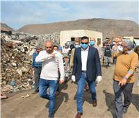 رفع تراكمات بموقع تدوير القمامة في بسندوب على نفقة الشركة المسؤولة