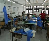 تصنيع الملابس الوقائية لأطباء مستشفيات الحجر الصحي بجامعة حلوان