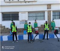 «القومي للمرأة» وشباب مرسى علم يعقمون الشوارع لمواجهة كورونا