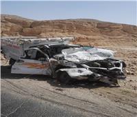ننشر الصور الأولى لحادث الصحراوي الغربي بقنا