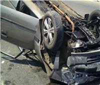 مصرع شخصين وإصابة 10 آخرين في انقلاب سيارة بالمنيا