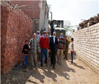 إزالة التعديات على الأراضي الزراعية بقرية مرصفا بالقليوبية