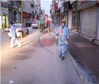 استمرار تنفيذ مبادرة تعقيم وتطهير شوارع العريش للوقاية من كورونا