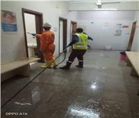 «مياه القليوبية» تعقم عدد من المواقع الخدمية بمدينة الخانكة لمواجهة «كورونا»