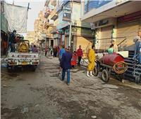 «الهجان» يوجه بتعقيم شوارع «شبين القناطر» ومكاتب البريد ومواقف السيارات