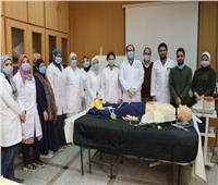 «طب المنصورة»: تدريب شباب الأطباء على الإنعاش الرئوى لمواجهة«كورونا»