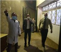 زيارة وكيل وزارة الصحة بالقليوبية لمستشفى بهتيم المركزي لمتابعة مكافحة كورونا
