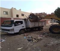 رفع 96 طن من تراكمات القمامة بقرى مركز شبين الكوم