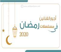 إنفوجراف | أجور الفنانين في مسلسلات رمضان 2020