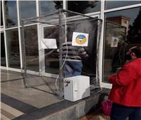 بوابات لتعقيم المواطنين قبل الدخول إلى مستشفيات جامعة طنطا