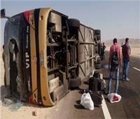 إصابة ٤ أشخاص في انقلاب أتوبيس بترعة بطريق دمنهور دسوق