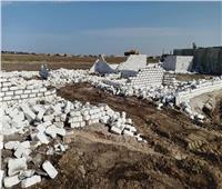 حملة لإزالة التعديات على أملاك الدولة بالقنطرة غرب بالإسماعيلية