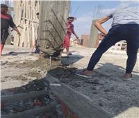 حملات إزالة للعقارات المخالفة بمركز ومدينة المحلة الكبرى