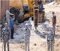 إزالة 31 حالة تعدٍ على أملاك الدولة وخارج الحيز العمراني بدمياط