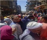 زحام «غير مسبوق» بشارع البوستة الرئيسي بالزقازيق