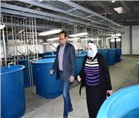 صور| رئيس جامعة قناة السويس تتفقد معهد الاستزراع السمكي