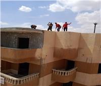 تنفيذ 3 قرارات إزالة لمخالفات بناء بالحي الخامس بمدينة الشيخ زايد