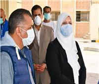 نائب محافظ مطروح تتفقد مستشفى العلمين المركزي ومستشفى مارينا