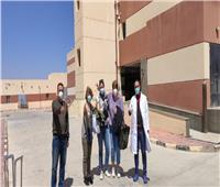 صور| خروج أخر مصابة أجنبية بمستشفى النجيلة في مطروح