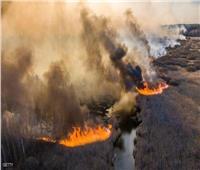 صور توضح حرائق بالقرب من مفاعل تشيرنوبل النووي