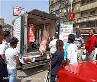 سيارات التموين تجوب شوارع الجيزة بكافة السلع الغذائية واللحوم