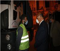 محافظ القاهرة يشدد على إزالة القمامة من الشوارع مساءً وصباحًا