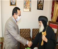 محافظ شمال سيناء يزور مطرانية الأقباط بالعريش ويهنئ الأنبا قزمان بعيد القيامة