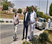 رئيس جهاز مدينة بدر يتفقد الحدائق للاطمئنان على عدم وجود تجمعات