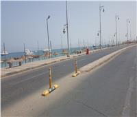 صور| شوارع وشواطئ الغردقة خالية في شم النسيم