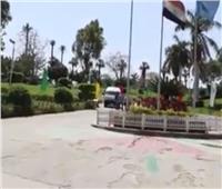 بالفيديو| الحديقة الدولية بالقاهرة بدون مواطنين لاول مرة في شم النسيم