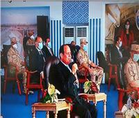 الرئيس السيسي: عاوزين عمالة تشتغل في المشروعات القومية