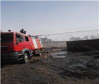 صور| السيطرة على حريق ضخم بمصنع سكر نجع حمادي