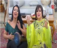 فيديو  سمية الخشاب تستقبل مقلب فيفي عبده بـ«الطبلة»