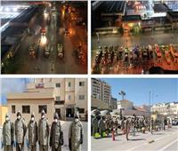 القوات المسلحة تواصل أعمال التطهير والتعقيم بمحافظتي الجيزة ومطروح