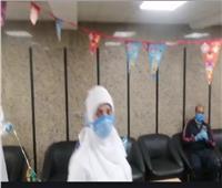 صور| تجهيزات واحتفال بمستشفى قها بالقليوبية للحجر الصحي قبل رمضان