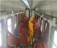 صور.. «السكة الحديد» تواصل تدابيرها للوقاية من فيروس كورونا