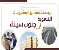 إنفوجراف| نرصد تكلفة أبرز المشروعات التنموية في جنوب سيناء