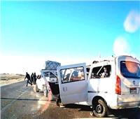 مصرع وإصابة3أشخاص فى انقلاب سيارة بطريق العلمين الصحراوى