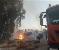 خسائر مادية.. في اندلاع حريق بمنطقة الحرفيين بقنا