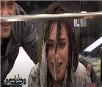 فيديو  أمينة خليل لـ«رامز» بعد سقوطها في المياه: «أنت هديت كل اللي بنيته»
