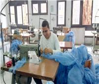 كلية الاقتصاد المنزلى بجامعة حلوان ترفع سقف إنتاجها من مستلزمات كورونا الطبية