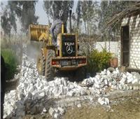 إزالة فورية لـ 3 حالات تعدي على الأراضي الزراعية بقويسنا