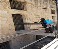 تطهير وتعقيم المواقع الأثرية بالإسكندرية