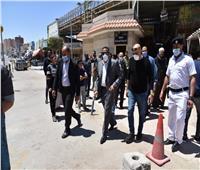 محافظ مطروح يتفقد سوق ليبيا للاطمئنان على اتخاذ الإجراءات الاحترازية
